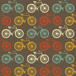 Vector seamless pattern with bicycles