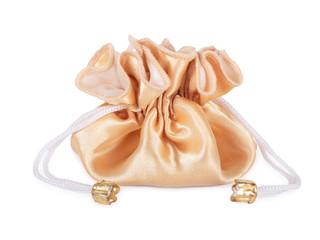 Golden Sack. Isolated on white