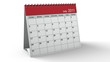 Folding 2011 Red Desktop Calendar with Alpha Channel