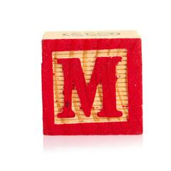wooden cube alphabet