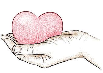 cuore in mano