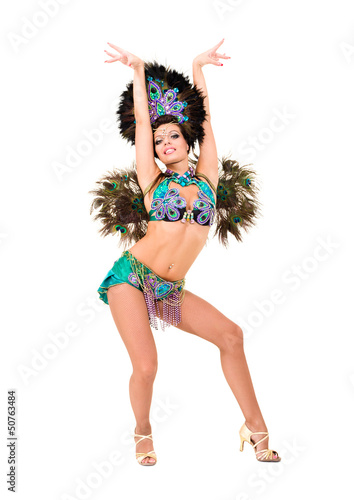 Beautiful carnival dancer woman