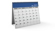 Folding 2013 Blue Desktop Calendar with Alpha Channel