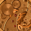 closeup clock mechanism