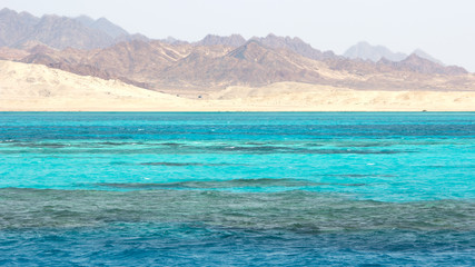 Red Sea landscape in Egypt