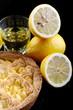 Liquore e torta al limone