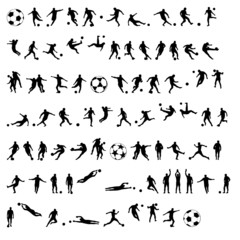 futbol vektör siluet