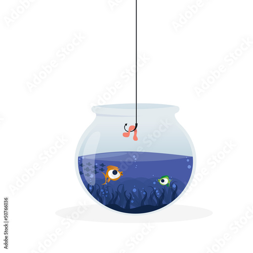 Fishing in the aquarium