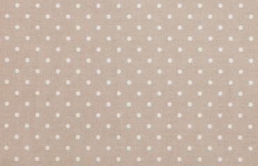 Light brown polka dot fabric