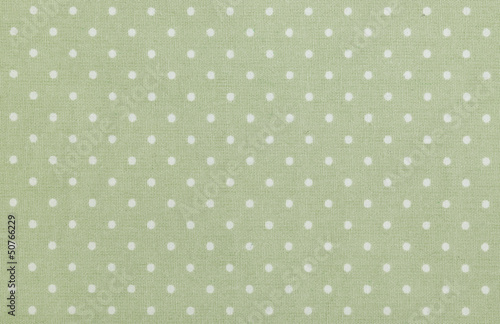 green polka dot fabric