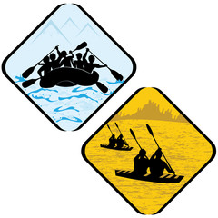 Water  Sport   Icon Symbol Sign Pictogram.
