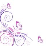 Fototapety sfondo primaverile fiori e farfalle