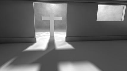 Puerta y entrada de luz