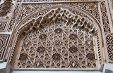 Moorish style stucco in Marrakesh