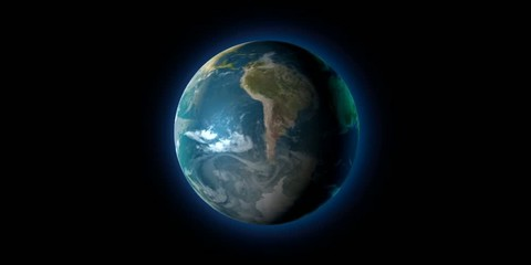 Planeta tierra girando