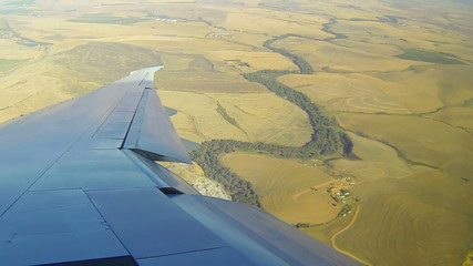 Aierial flyover South Africa Cape Doha city