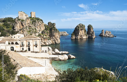 Faraglioni and Tonnara at Scopello, Sicily
