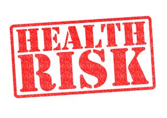 HEALTH RISK Rubber Stamp