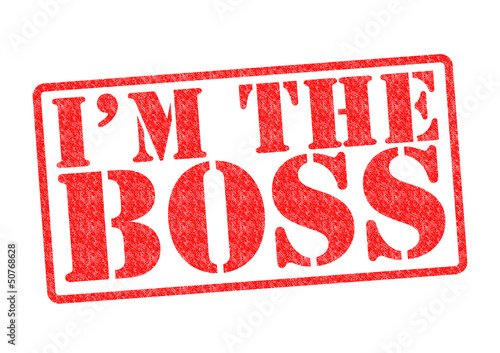 I'M THE BOSS Rubber Stamp