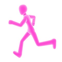 run left pink