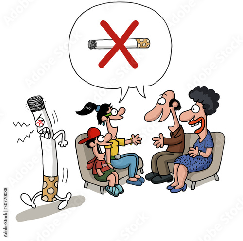 Family is meeting against smoking
