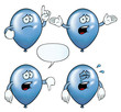 Collection of crying party balloons with various gestures.