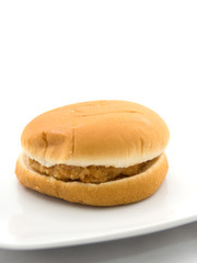 A Burger isolated on white