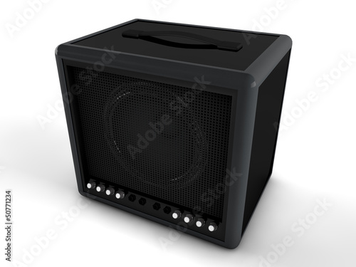 3d amplifier isolated on white background