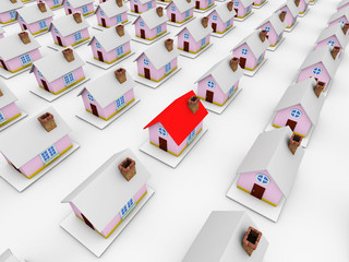 3d home isolated on white background