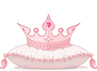 Crown on the pillow