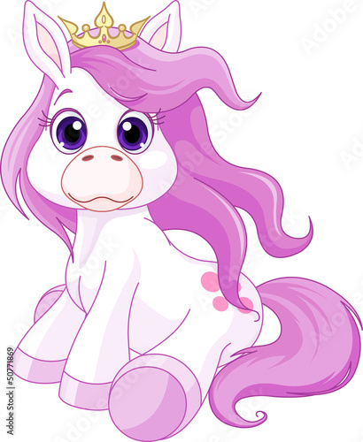 Poster Pony Cute horse princess