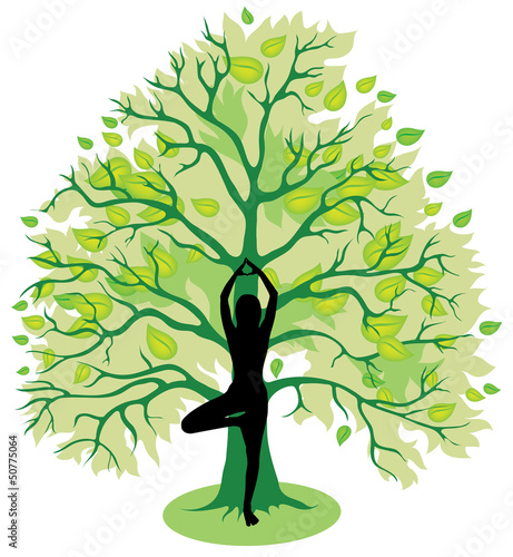 Tree yoga pose