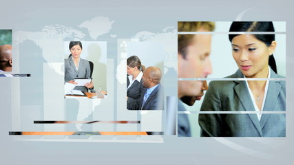 Montage Successful Business Teams