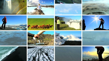 Montage Images Lifestyle Activities Natural Beauty Iceland