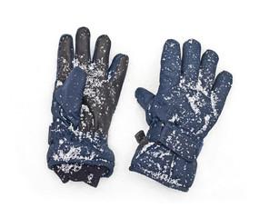 blue gloves snow