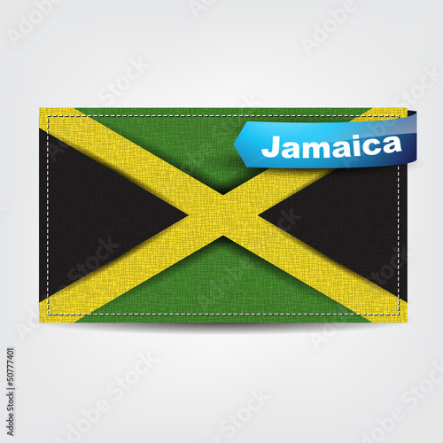 Fabric texture of the flag of Jamaica