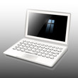 Laptop white, Vector