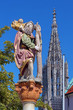 Statue of St. Christopher in Ulm, Germany