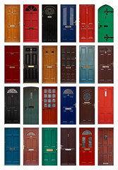 isolated front doors