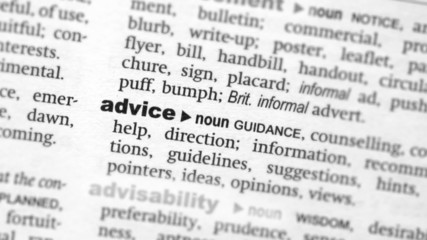 Focus on advice