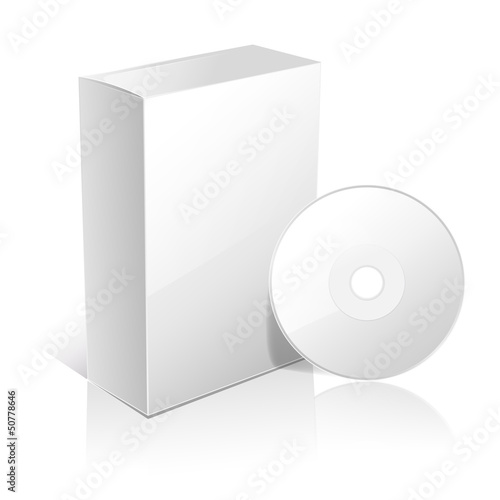 white carton box for software and disc