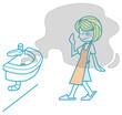 洗面所の悪臭に悩む女性
