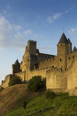 Carcassonne in golden sunlight
