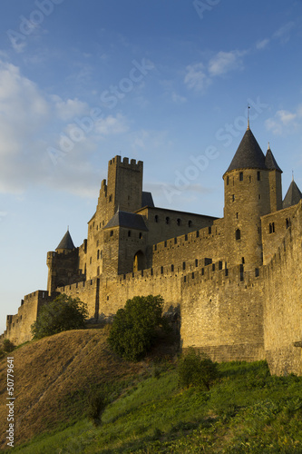 Carcassonne in golden sunlight