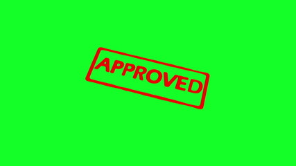 Animation of approved stamp