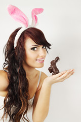 Woman with bunny
