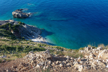 Cliff And Blue Sea, Albania