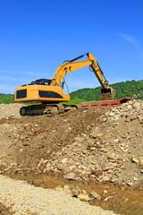 Dredge on a building site.