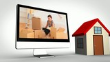 Montage of couples moving in displayed on various media devices