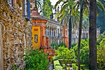 Real Alcazar Gardens in Seville, Spain.